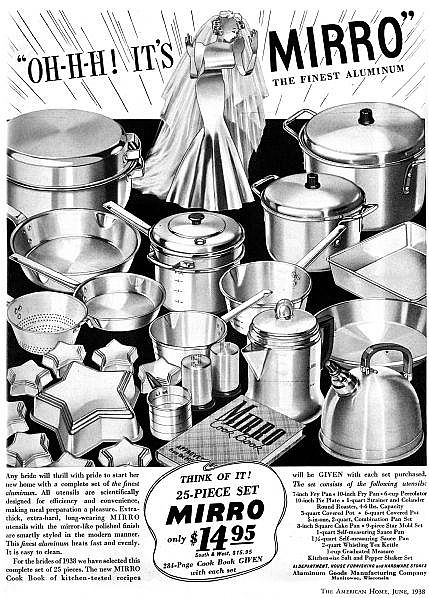 Aluminum pots and pans